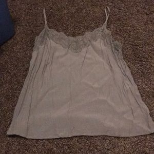 Xl Abercrombie and Fitch sage green lace tank cami